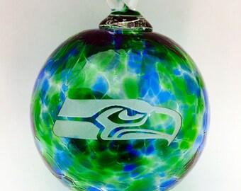 Seahawk Blown Glass Ornament