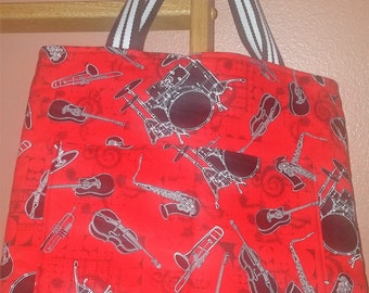 Musical Instruments Purse/Tote Bag / Item # 271