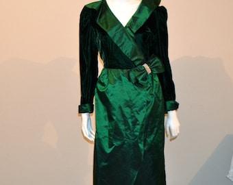 Vintage Dress Emerald Green Ballroom