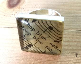 Deep Blue Sea Sheet Music Ring