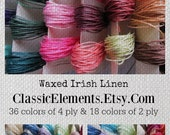 FOUR Ply Pick 5 Colors Waxed Irish Linen Thread, Waxed Linen Cord, Waxed Irish Linen, Irish Linen, Linen,