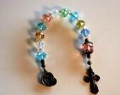 Pastel Crystal Rondelle Single Decade Catholic Rosary