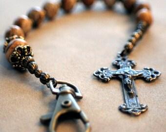 Picture Jasper Auto/Single Decade Catholic Rosary