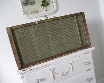 Vintage Window Screen * Shabby Cottage * Old Farmhouse