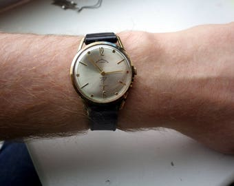 Vintage Andre Bouchard Watch - Mechanical/Wind Up - Gold Plated - Mens.