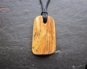 Natural Wood Rune Pendant - Fig/Wunjo - for Harmony.