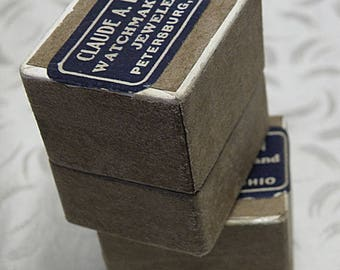 SPRING SALE two vintage PAPER Ring Boxes