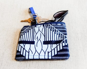 Gift for Mom, Mother's Day Gift, Blue Pouch, Zipper Pouch, Coin Purse, Cosmetic Bag, Change Pouch, Gift for Her, Grad Gift, Teacher Gift