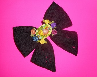 Big Black Bow Barrette