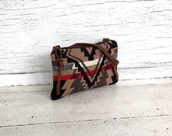 Small Black, Brown & Red Tribal Purse, Messenger Bag, Navajo Cross Body, Festival Purse, Small Travel Purse