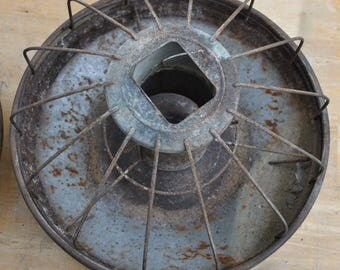 Vintage Wire Chicken Feeder for Industrial Lighting 2 Available