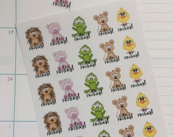 25 It's Friday Fits Erin Condren Life Planner & Other Planners TGIF Planner Stickers, Stickers