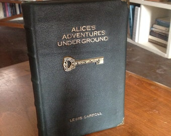 Made to Order Leather Lambskin Hand Bound Alice's Adventures Underground Facsimile Edition