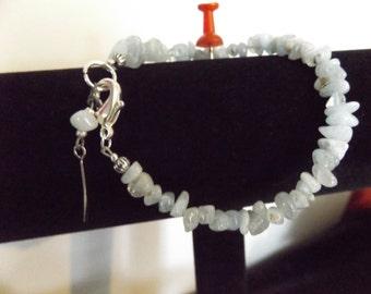 Aquamarine Crystal Bracelet, Crystal Bracelet, Aquamarine Jewelry, Beach Jewelry, Mystical Jewelry, Spiritual Jewelry, Raw Crystal Jewelry