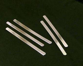 "50 Blanks 1/4"" x 5.5""  14 Gauge Polished Aluminum Blanks 1/4 x 5-1/2"" Cuff Food Safe Aluminum - Flat"