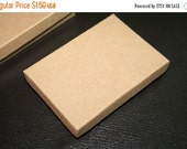 WINTER SALE SALE - High Quality Kraft Natural Paper Gift Boxes - Canadian Sizes - 85mmx60mmx18mm- 1 pcs