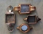 Vintage  Watch parts - watch Cases -  Steampunk - Scrapbooking  s27