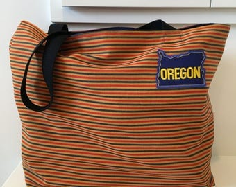 Oregon Patch Tote/ Beach Bag/ Market Bag
