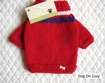 Dog Sweatshirt Sweater - XSMALL - RED