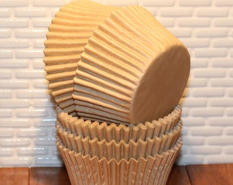 NEW - Natural Heavy Duty Cupcake Liners (Qty 32) Natural Heavy Duty Baking Cups, Natural Cupcake Liners, Natural Baking Cups, Cupcake Liners