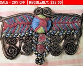 Vintage Applique Silk Soutache Colorful