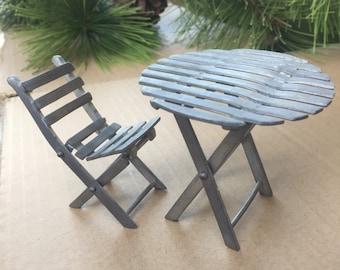 dollhouse outdoor furniture. pewter folding table chair miniature patio furniture dining set dollhouse peltro vintage dresser doll hallmark outdoor u