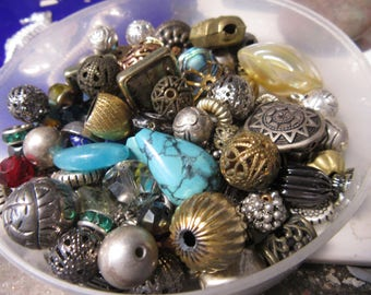 Big Destash Sale Metal Beads Gemstone Charms Vintage Gumball Charms Large lot