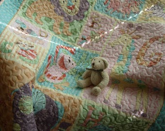 Night Night Zoo Baby Quilt