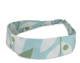 """40% off Fabric Headband - Lindy Leaf- Pick your size - fit toddlers to adults - 1-1/2"""" wide"""