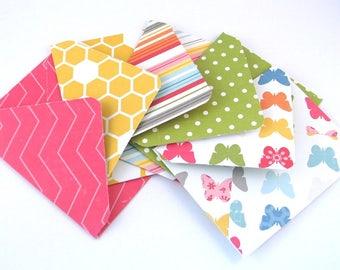 5 x Pretty Handmade Paper Envelopes, Scrapbook Junk Journal Envelopes, Gift Card Envelopes, Paper Wallet, Daily Planner Envelopes
