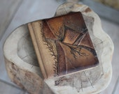 Leather journal blank book diary gift for him