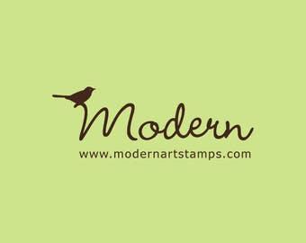 Custom Rubber Stamp   Custom Stamp   Personalized Stamp   Return Address Stamp   Name with Bird Stamp   Name Stamp   Bird Stamp   C75