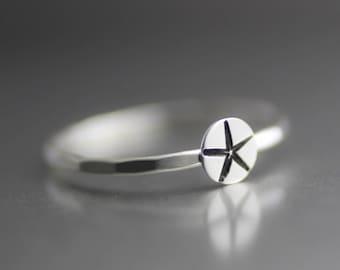 Starfish Ring, Sea Star Stack Ring, Stack Ring, Silver Stack Ring, Starfish Stack Ring, Beach Ring, Silver Ring, Ocean Ring, Beach Ring