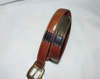 Multi-Color Leather FOSSIL Belt -Made in Turkey- SIZE Small  1066