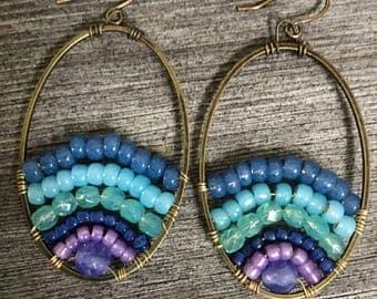 The peacock sunset earrings