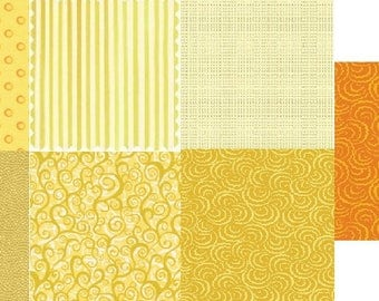 Sale! Shades of yellow fat quarters (7)
