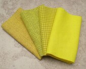 RESERVED Listing for Michele, 3 half-yard pieces of hand dyed wool in Lemon Drop