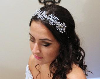 Crystal Bridal headband, Vintage Wedding headpiece, Swarovski crystal headband, Vintage headpiece, Rhinestone headband, Hair accessories