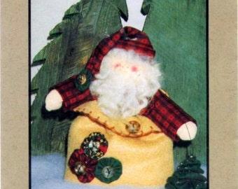 """Santa's Yo-Yo Pack ~ 7"""" Santa and 2"""" Yo-Yo Tree ~ Pattern ~ Goodies From Grandma"""