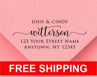 Address stamp self inking - Wedding Gift, Bridal Shower Gift, Realtor Gift, Housewarming Gift, Christmas gift R286