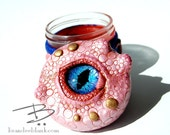 Octopus Stash Jar 'Cotton Candy' - ready to ship  - air tight, water proof - 4 oz.