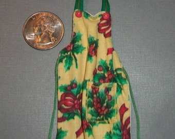 Miniature Christmas Apron 1:12 scale