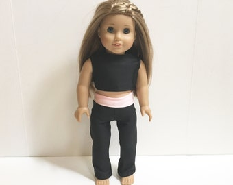 18 Inch American Made Girl Doll Outfit - 2 Pc Workout Wear