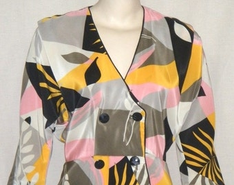 SWEETHEART SALE Vintage Retro 1980's A La Carte Dress Medium