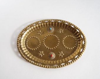 Vintage Embellished Tray, Bohemian, Moroccan
