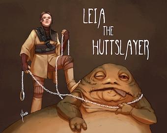 Star Wars Fanart Print - Leia the Huttslayer