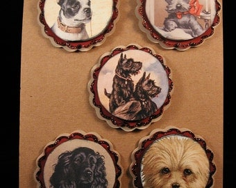 Vintage Dog Paper Embellishments Set #2