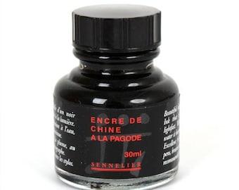 Sennelier Indian Ink 30ml Bottle - Black