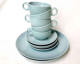 Ice Blue China Russel Wright Iroquois Casual 11 Pieces