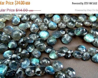 SALE Flashy Labradorite faceted heart briolette